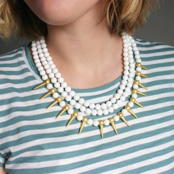 Agate necklace /Statement necklace 🔴Anthropologie